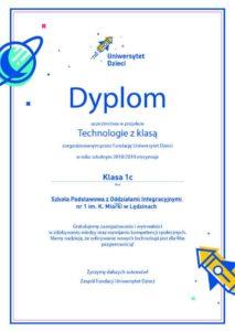 Dyplom Technologie zklasą